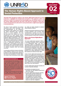 The Human Rights-Based Approach to Social Protection (Issue Brief 2)