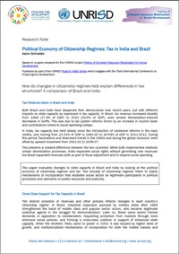 Political Economy of Citizenship Regimes: Tax in India and Brazil (Research Note)