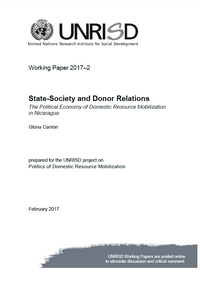 State-Society and Donor Relations: The Political Economy of Domestic Resource Mobilization in Nicaragua