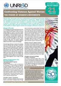 Confronting Violence Against Women: The Power of Women's Movements (Research and Policy Brief 21)