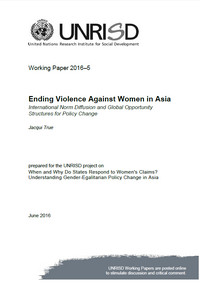 Ending Violence Against Women in Asia: International Norm Diffusion and Global Opportunity Structures for Policy Change