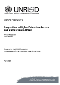 Inequalities in Higher Education Access and Completion in Brazil
