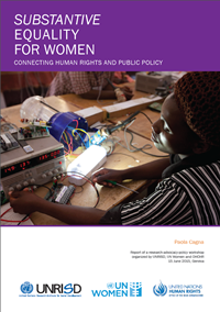 Workshop Report: Substantive Equality for Women: Connecting Human Rights and Public Policy