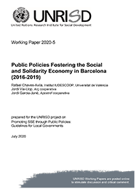 Public Policies Fostering the Social and Solidarity Economy in Barcelona (2016-2019)