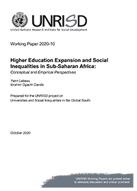 Higher Education Expansion and Social Inequalities in Sub-Saharan Africa: Conceptual and Empirical Perspectives