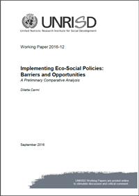 Implementing Eco-Social Policies: Barriers and Opportunities—A Preliminary Comparative Analysis