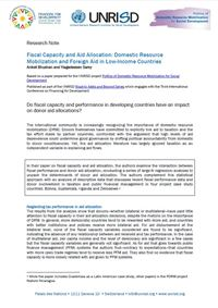 Fiscal Capacity and Aid Allocation: Domestic Resource Mobilization and Foreign Aid in Low-Income Countries (Research Note)