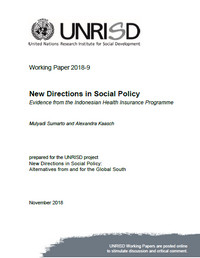 New Directions in Social Policy: Evidence from the Indonesian Health Insurance Programme