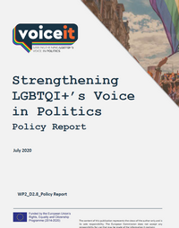 VoiceIt Report: Strengthening LGBTQI+'s Voice in Politics - Policy Report