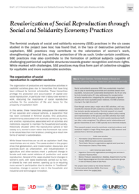 Revalorization of Social Reproduction through Social and Solidarity Economy Practices