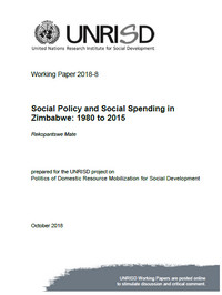 Social Policy and Social Spending in Zimbabwe: 1980 to 2015