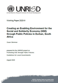 Creating an Enabling Environment for the Social and Solidarity Economy (SSE) through Public Policies in Durban, South Africa