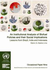 An Institutional Analysis of Biofuel Policies and their Social Implications Lessons from Brazil, India and Indonesia