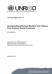 Incorporating Informal Workers into Twenty-First Century Social Contracts
