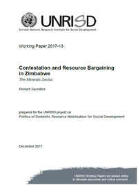 Contestation and Resource Bargaining in Zimbabwe: The Minerals Sector
