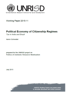 Political Economy of Citizenship Regimes: Tax in India and Brazil