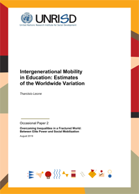Intergenerational Mobility in Education: Estimates of the Worldwide Variation