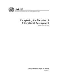 Recapturing the Narrative of International Development