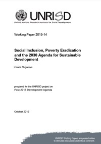 Social Inclusion, Poverty Eradication and the 2030 Agenda for Sustainable Development