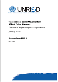 Transnational Social Movements in ASEAN Policy Advocacy: The Case of Regional Migrants' Rights Policy