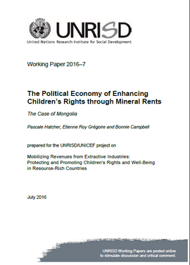 The Political Economy of Enhancing Children's Rights through Mineral Rents: The Case of Mongolia