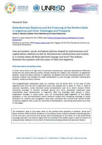 State-Business Relations and the Financing of the Welfare State in Argentina and Chile: Challenges and Prospects (Research Note)