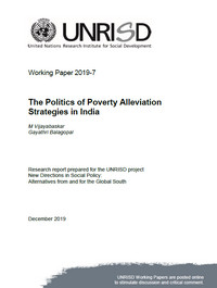 The Politics of Poverty Alleviation Strategies in India