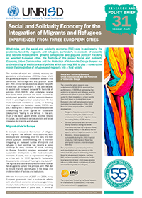 Social and Solidarity Economy for the Integration of Migrants and Refugees: Experiences from Three European Cities